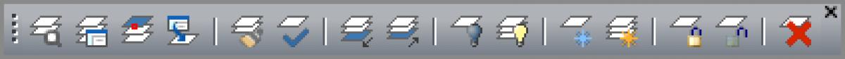 IntelliCAD - Barra de ferramentas da layer