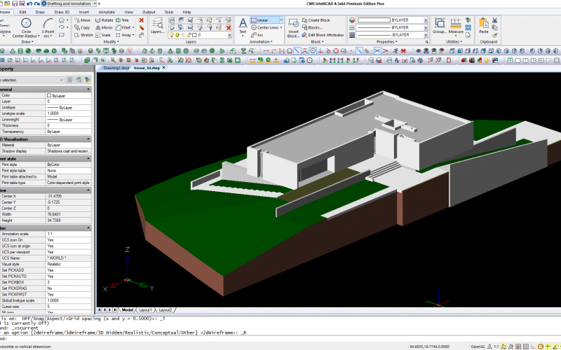 Novo software CAD CMS IntelliCAD 8.3 Premium Edition