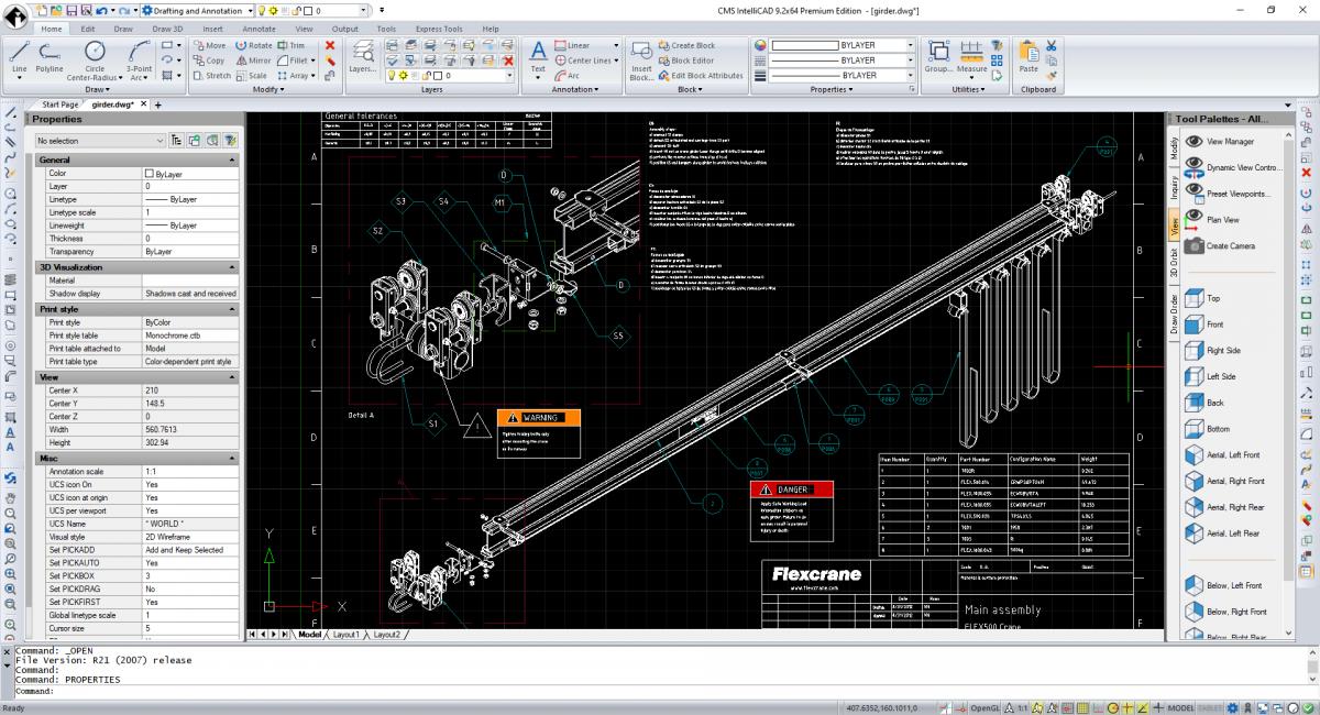 CMS IntelliCAD Easy Run - interface de utilizador